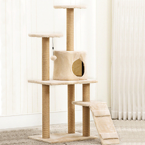 Gorilla: Cat Tree (4 Levels) 1.2M - Light Brown