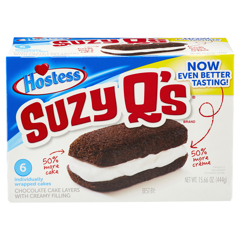 Hostess Suzy Q's (6 Pack)