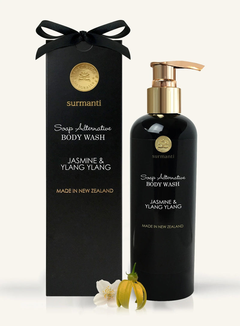 Surmanti Body Wash Soap Alternative - Jasmine & Ylang Ylang (300ml)