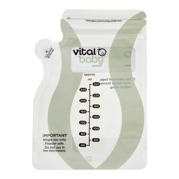 Vital Baby: Easy Pour Breast Milk Storage Bags (30 Pack)