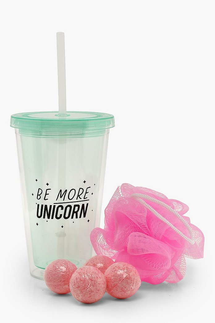 NPW Gifts: Unicorn - Bath Bomb Tumbler Set