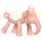 Ange: Elephant 3D Teether - Pink