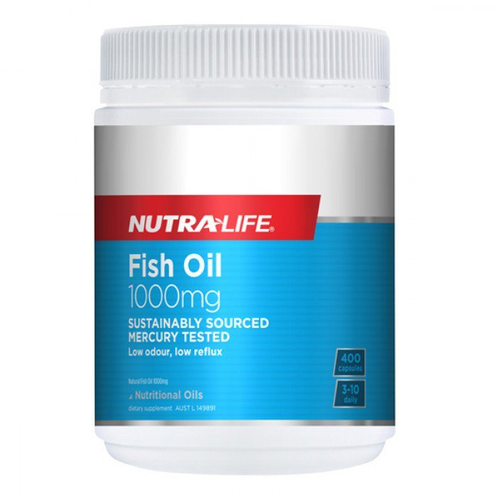 Nutra Life: Fish Oil 1000mg Caps (400s)