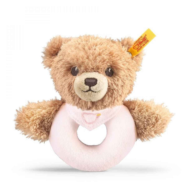 Steiff: Sleep Well Bear Grip Toy with Rattle - Pink