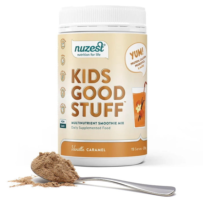 Nuzest Kids Good Stuff Vanilla Caramel Smoothie Mix (225g)