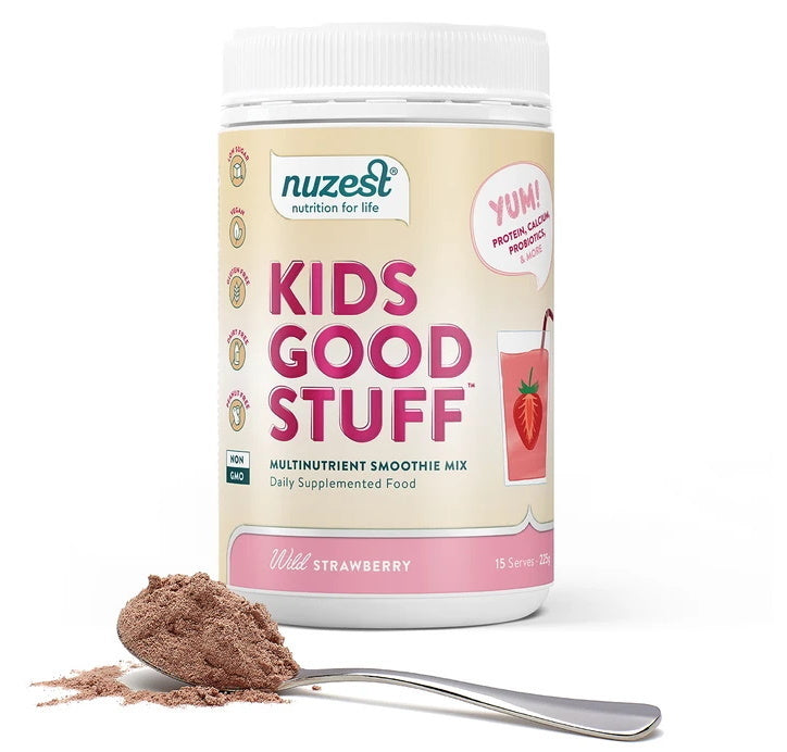 Nuzest Kids Good Stuff Wild Strawberry Smoothie Mix (225g)