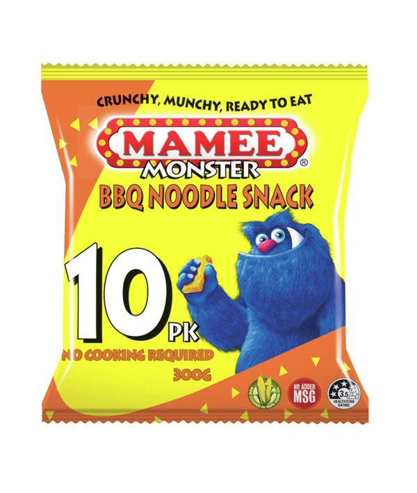 Mamee Noodle Snacks BBQ 30g 10 x 10pk