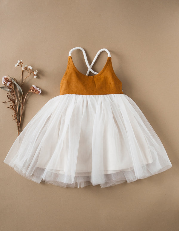 Karibou Kids: Willa Linen Reversible Tutu Dress - Woodland 1YR