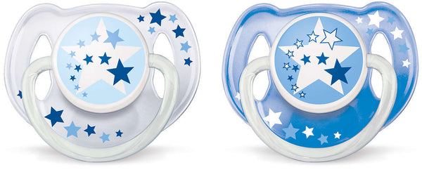 Philips Avent 6-18m Night Time Soother - Blue (2 Pack)