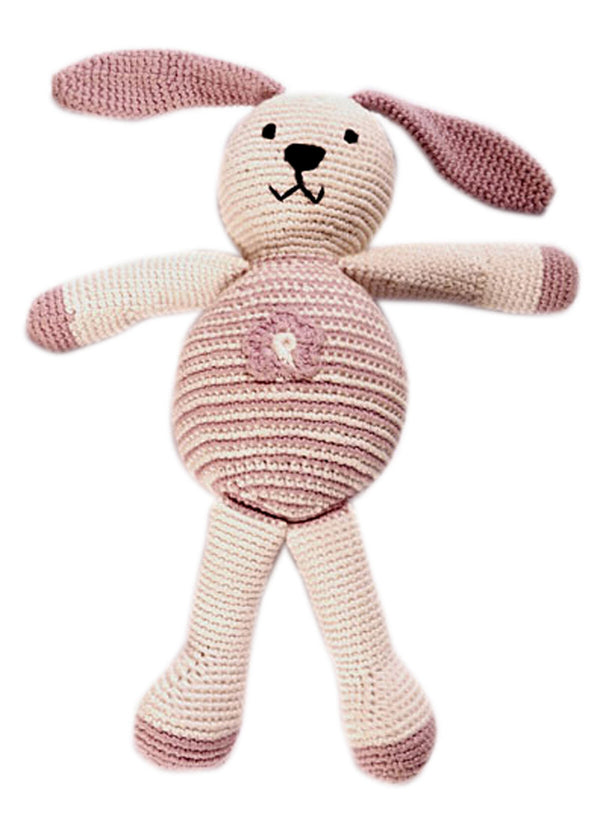 Pebble: Organic Crochet Motif Bunny - Flower
