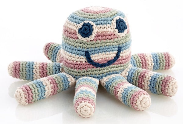 Pebble: Organic Crochet Rattle - Octopus
