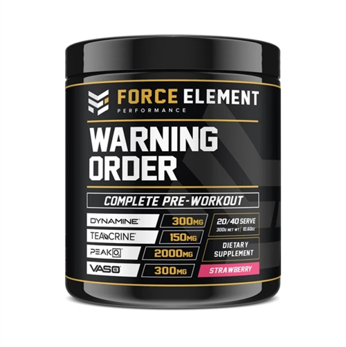 Force Elements: Warning Order Pre Workout - Strawberry (20 Serve)