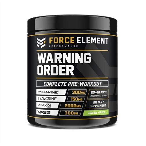Force Elements: Warning Order Pre Workout - Green Apple (20 Serve)