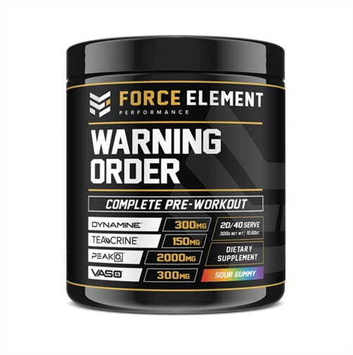 Force Elements: Warning Order Pre Workout - Sour Gummy (20 Serve)
