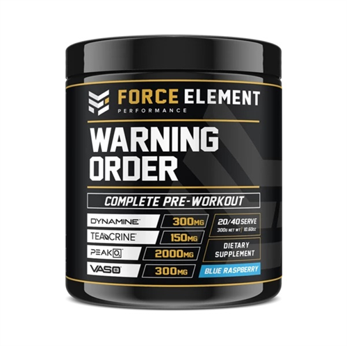 Force Elements: Warning Order Pre Workout - Blue Raspberry (20 Serve)