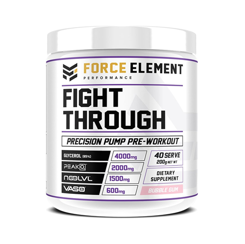 Force Elements: Fight Through Pre-Workout - Bubblegum (40 Serve)