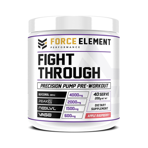 Force Elements: Fight Through Pre-Workout - Apple Raspberry (40 Serve)