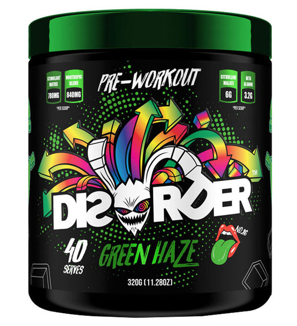 Faction Labs: Disorder Pre-Workout - Green Haze (320g - 40 Serves)