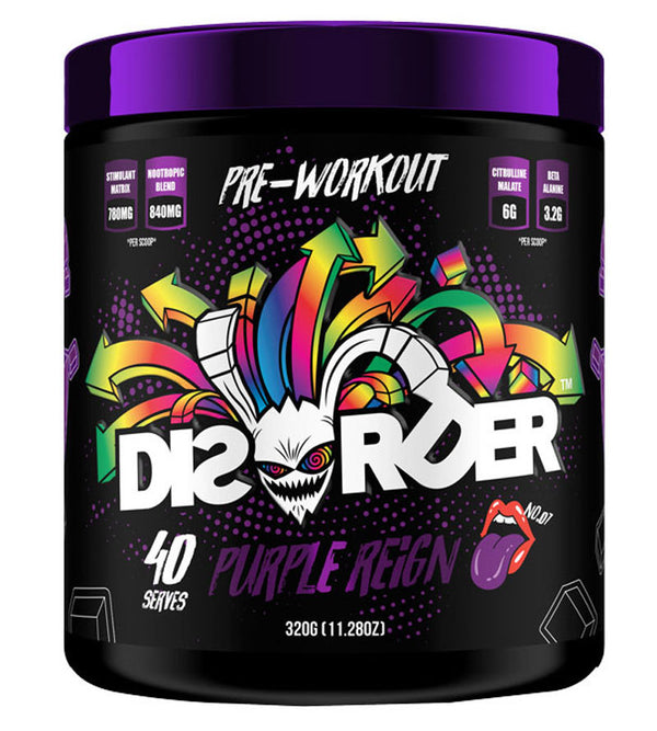 Faction Labs: Disorder Pre-Workout - Purple Reign (320g - 40 Serves)