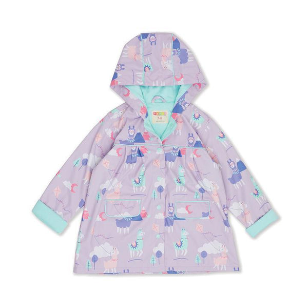 Penny Scallan: Raincoat - Loopy Llama (Size 3-4)