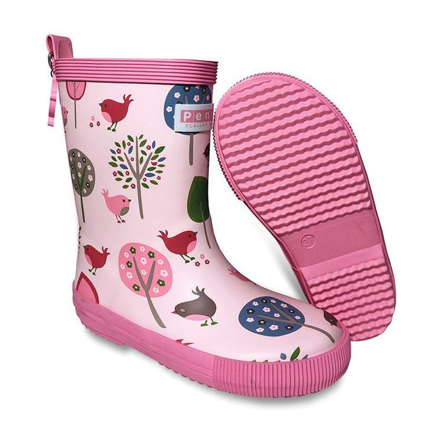 Penny Scallan: Gumboot Tall - Chirpy Bird (Size 24 - Size 7)
