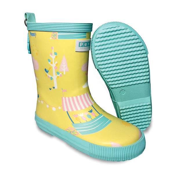 Penny Scallan: Gumboot Tall - Park Life (Size 23 - Size 6)
