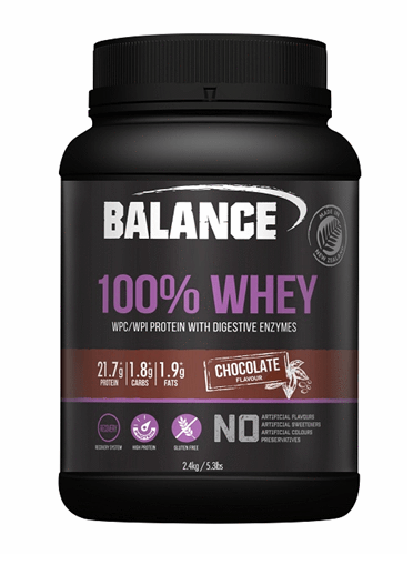 Balance 100% Whey Protein Powder - Chocolate (2.4kg)