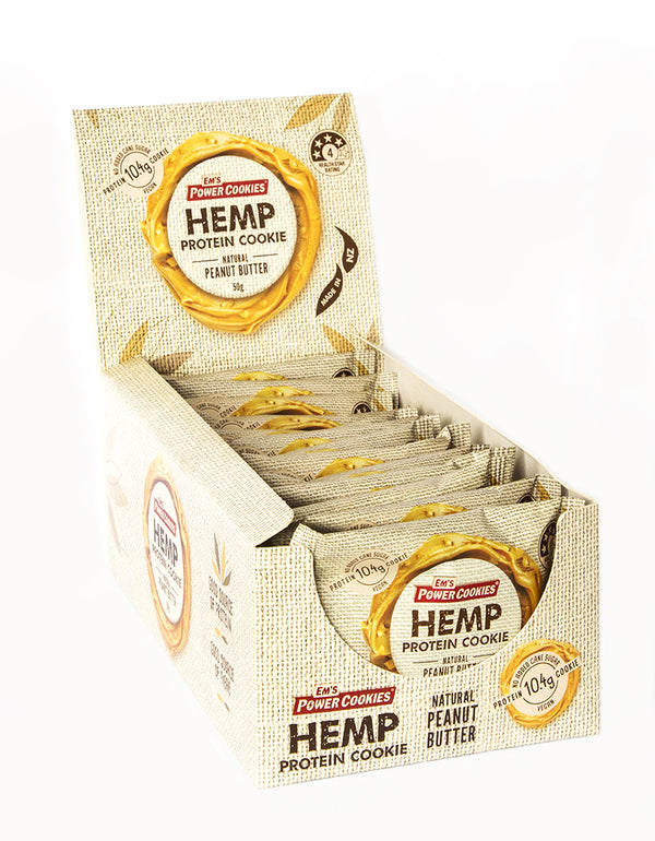 Ems Power Cookies - Hemp Peanut Butter (15x50g)