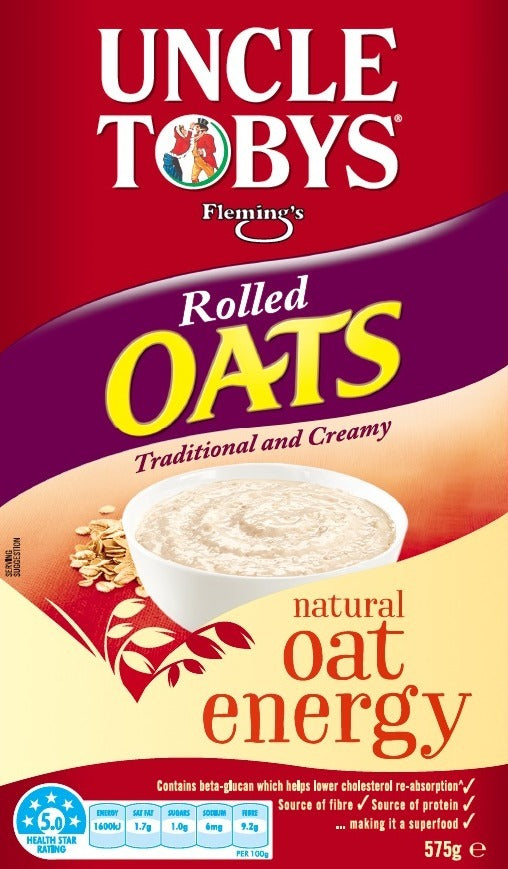 Uncle Tobys Rolled Oats 575g (9 Box Value Pack)