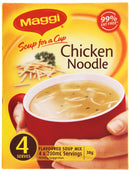 MAGGI Soup for a Cup Chicken Noodle 4pk 38g (12 Pack)