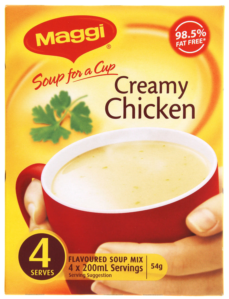 MAGGI Soup for a Cup Creamy Chicken 4pk 54g 12pk