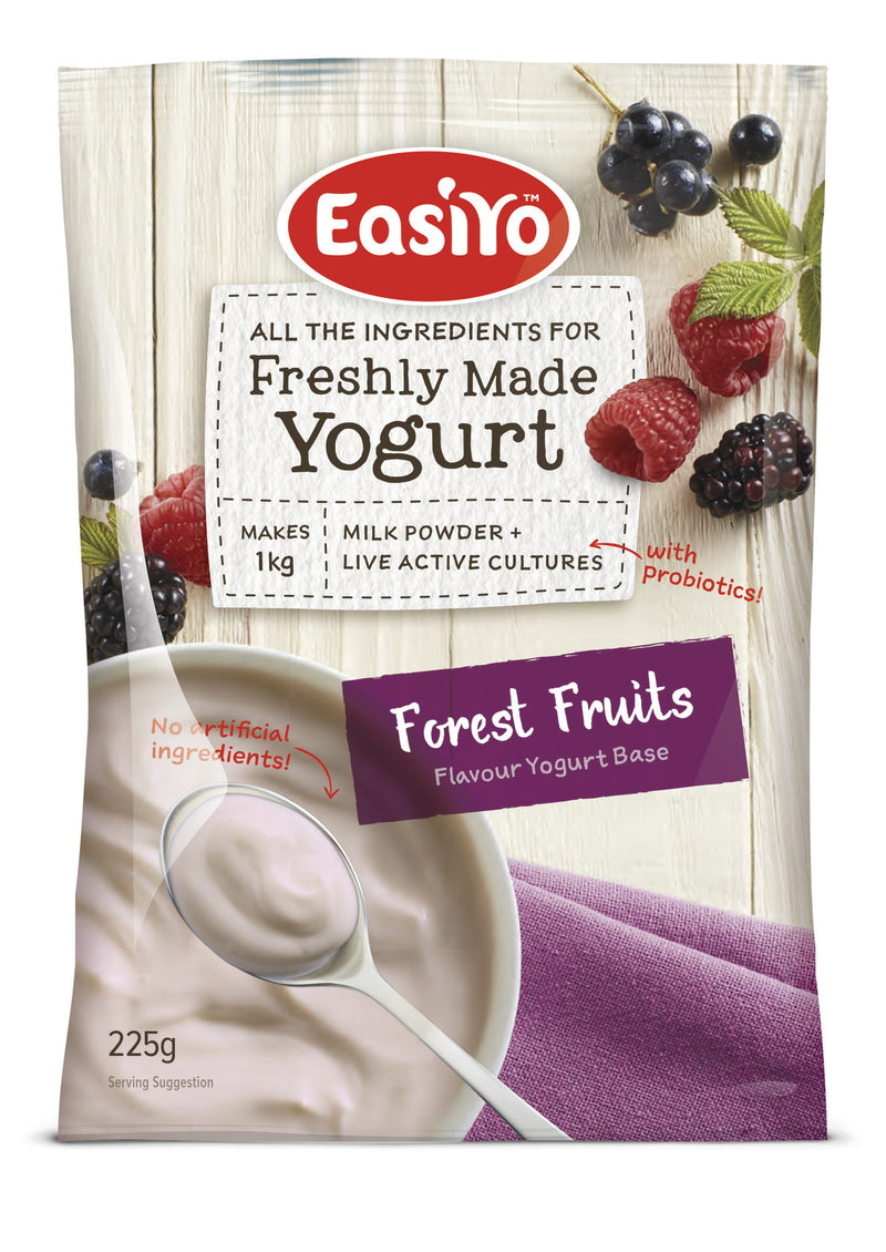 EasiYo: Everyday Range Yogurt Base - Forest Fruits 225g (8 Pack)