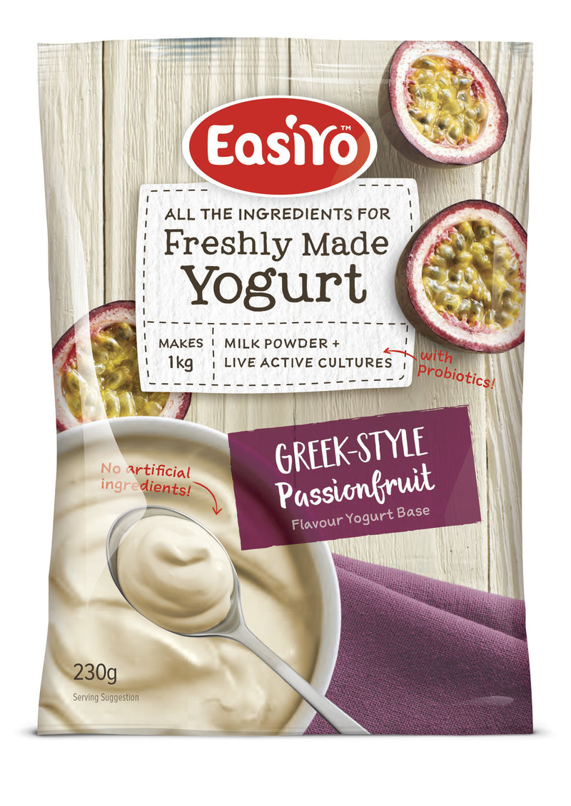 EasiYo: Greek-Style Passionfruit 230h (8 Pack)