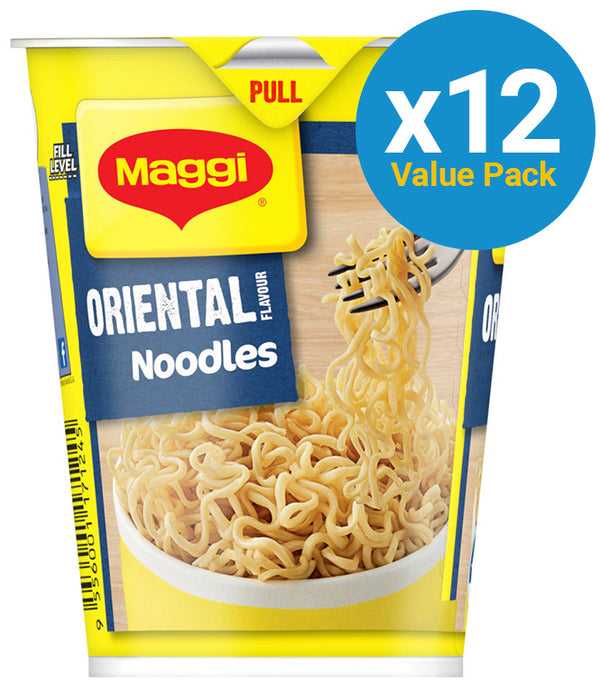 Maggi 2 Minute Cup Noodles - Oriental 58g (12 Pack)