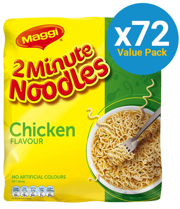 Maggi 2-Minute Noodles - Chicken (72 Pack)