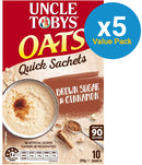 Uncle Tobys Oats (Brown Sugar & Cinnamon, 350g) 5pk