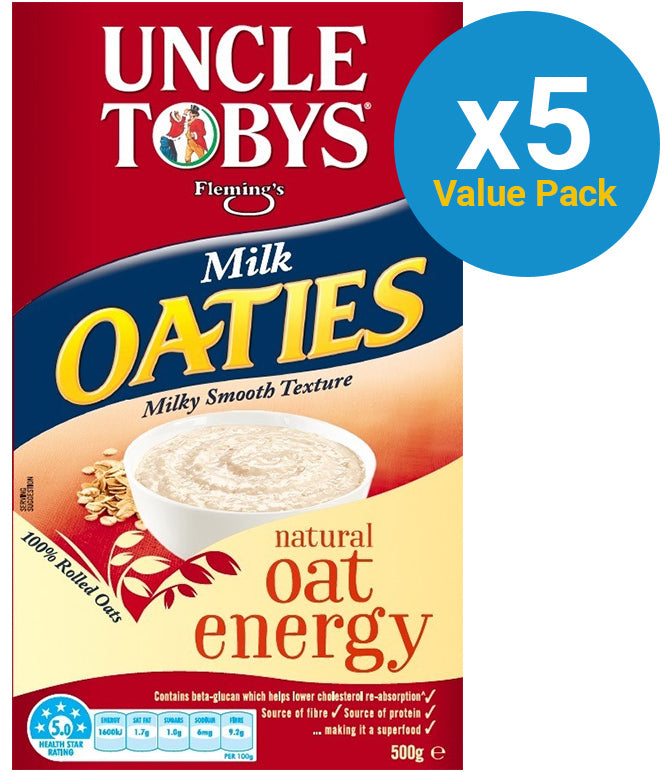 Uncle Tobys Milk Oaties (500g) 9pk