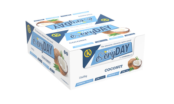 Keto Nutrition: Everyday Low-Carb Coconut Bars (Box of 12)