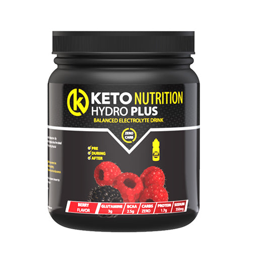 Keto Nutrition: HydroPlus Electrolytes - Berry (300g, 30 servings)