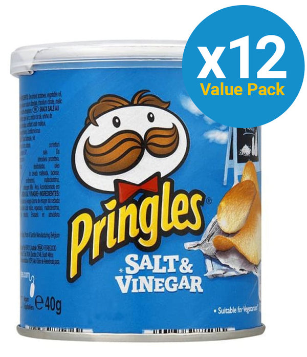 Pringles Grab & Go Small Salt & Vinegar 40g (12 Pack)