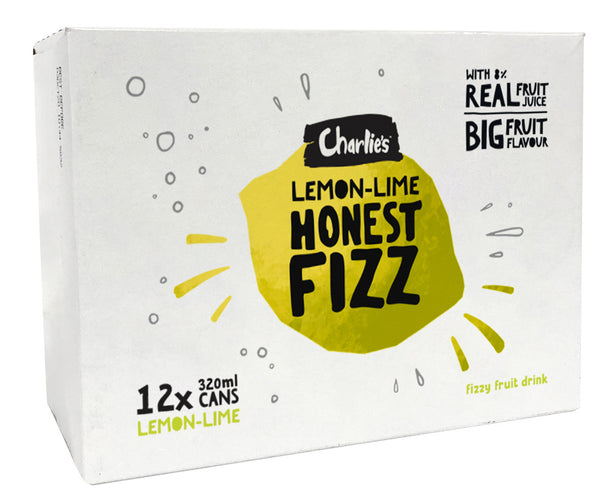 Charlie's Honest Fizz - Lemon Lime 320ml (12 Pack)
