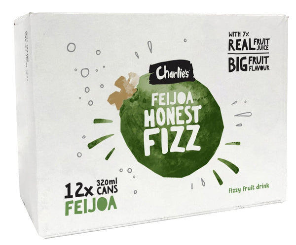 Charlie's Honest Fizz - Feijoa 320ml (12 Pack)