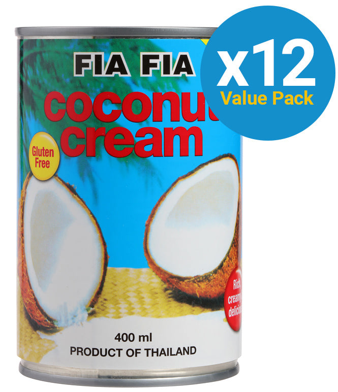 Fia Fia Coconut Cream 400ml (12 Pack)