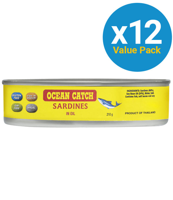 Ocean Catch Sardines in Oil 210g (12 Pack)