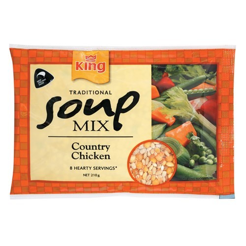 King: Traditional Soup Mix - Country Chicken 210g (12 Pack)