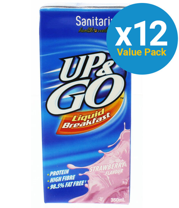 UP&GO Liquid Breakfast Strawberry 350ml (12 Pack)