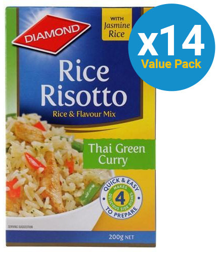 Diamond: Rice Risotto Thai Green Curry 200g (14 Pack)