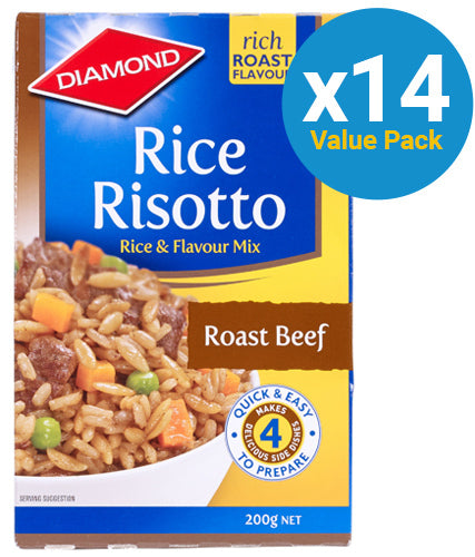 Diamond: Rice Risotto Roast Beef 200g (14 Pack)