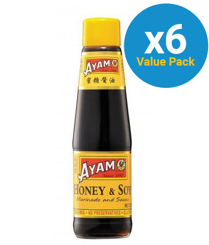 Ayam: Honey Soy Marinade Sauce 210ml (6 Pack)
