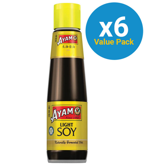 Ayam: Light Soy Sauce 210ml (6 Pack)